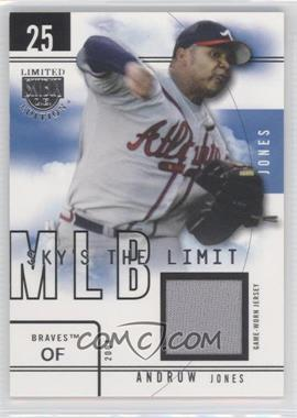 2004 Skybox Limited Edition - Sky's the Limit - Jerseys [Memorabilia] #SL-AJ - Andruw Jones /99