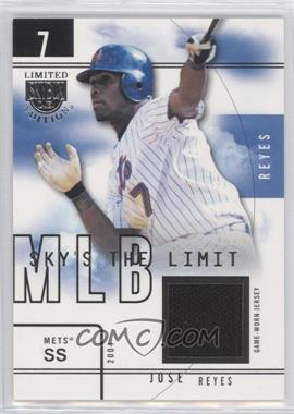 2004 Skybox Limited Edition - Sky's the Limit - Jerseys [Memorabilia] #SL-JR - Jose Reyes /99