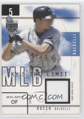 2004 Skybox Limited Edition - Sky's the Limit - Jerseys [Memorabilia] #SL-RB - Rocco Baldelli /99