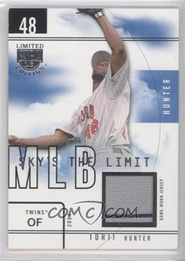 2004 Skybox Limited Edition - Sky's the Limit - Jerseys [Memorabilia] #SL-TH - Torii Hunter /99