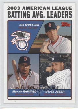 2004 Topps - [Base] #337 - Bill Mueller, Manny Ramirez, Derek Jeter
