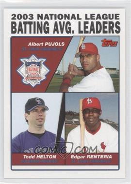 2004 Topps - [Base] #343 - Albert Pujols, Todd Helton, Edgar Renteria