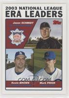 Jason Schmidt, Kevin Brown, Mark Prior [EX to NM]