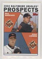Nick Markakis, Adam Loewen [EX to NM]