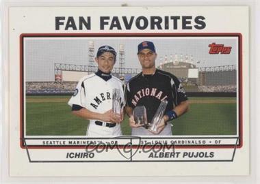 2004 Topps - [Base] #694 - Fan Favorites (Ichiro Suzuki, Albert Pujols)