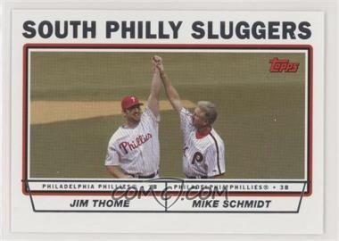 2004 Topps - [Base] #695 - Jim Thome, Mike Schmidt