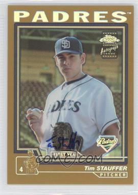 2004 Topps Chrome - [Base] - Gold Refractor #241 - Tim Stauffer /50