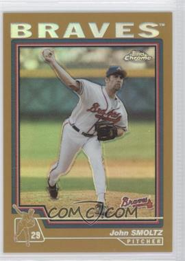 2004 Topps Chrome - [Base] - Gold Refractor #45 - John Smoltz