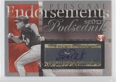 2004 Topps Pristine - Personal Endorsements Autographs #PEA-SP - Scott Podsednik