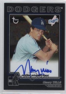 2004 Topps Retired Signature Edition - Autographs #TA-MW - Maury Wills