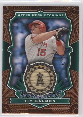 2004 Upper Deck Etchings - Baseball Etching Bats - Green #BE-TS - Tim Salmon /50