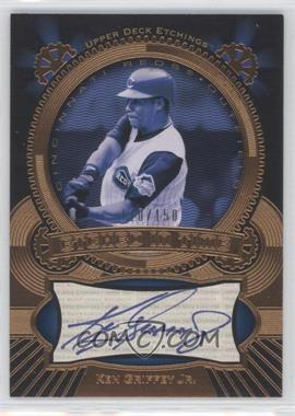 2004 Upper Deck Etchings - Etched in Time Autographs - Blue Ink #ET-KG - Ken Griffey Jr. /150