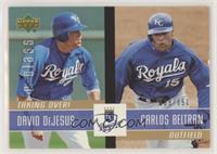 David DeJesus, Carlos Beltran /650 [EX to NM]