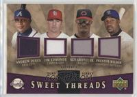 Andruw Jones, Ken Griffey Jr., Jim Edmonds, Preston Wilson /99