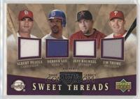 Albert Pujols, Derrek Lee, Jeff Bagwell, Jim Thome /99