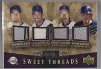 Randy Johnson, Luis Gonzalez, Brandon Webb, Richie Sexson /99