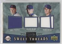 Kerry Wood, Mark Prior, Greg Maddux #/99