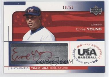 2004 Upper Deck USA Baseball 25-Year Anniversary - Signatures - Red Ink #YOUN - Ernie Young /50