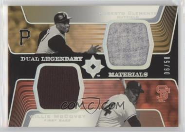 2004 Upper Deck Ultimate Collection - Dual Legendary Materials #DLM-RW - Roberto Clemente, Willie McCovey /50