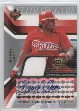 2004 Upper Deck Ultimate Collection - Ultimate Game Materials Signatures #GJS-BA - Bobby Abreu /50