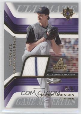 2004 Upper Deck Ultimate Collection - Ultimate Game Materials #GJ-RJ - Randy Johnson /99