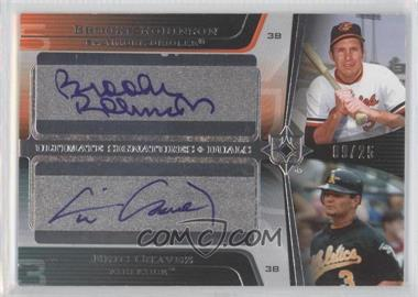 2004 Upper Deck Ultimate Collection - Ultimate Signatures Duals #DS-CR - Brooks Robinson, Eric Chavez, Brian Roberts /25