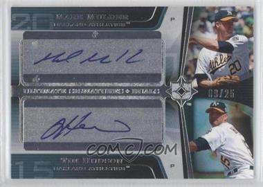 2004 Upper Deck Ultimate Collection - Ultimate Signatures Duals #DS-MH - Mark Mulder, Tim Hudson /25