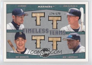 2004 Upper Deck Vintage - Timeless Teams Bats #TT-9 - Ichiro Suzuki, John Olerud, Bret Boone, Mike Cameron /175