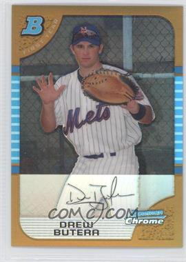 2005 Bowman Draft Picks & Prospects - Chrome - Gold Refractor #BDP44 - Drew Butera /50