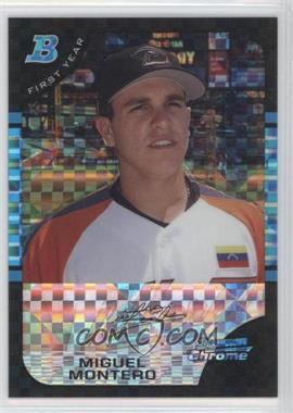 2005 Bowman Draft Picks & Prospects - Chrome - X-Fractor #BDP137 - Miguel Montero /250