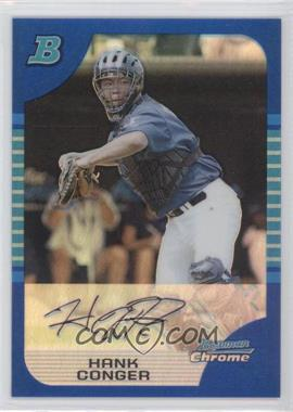 2005 Bowman Draft Picks & Prospects - Chrome AFLAC - Blue Refractor #AFL9 - Hank Conger /150