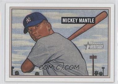 2005 Bowman Heritage - [Base] #350 - Mickey Mantle