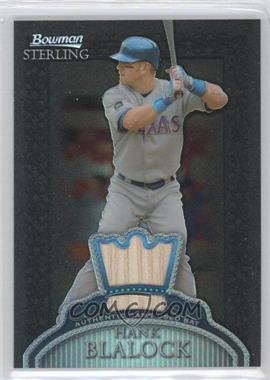 2005 Bowman Sterling - [Base] - Black Refractor #BS-HB - Hank Blalock /25