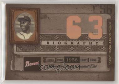 2005 Donruss Biography - Hank Aaron Career Home Run #63 - Hank Aaron