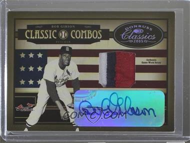 2005 Donruss Classics - Classic Combos - Jerseys Prime Signatures [Autographed] [Memorabilia] #CC-44 - Bob Gibson, Tom Seaver /1