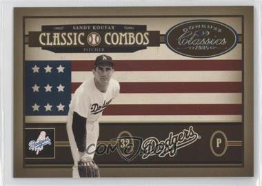2005 Donruss Classics - Classic Combos #CC-37 - Sandy Koufax, Nolan Ryan /400