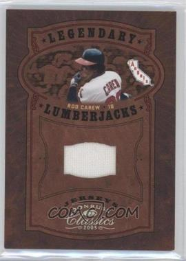 2005 Donruss Classics - Legendary Lumberjacks - Jerseys [Memorabilia] #LP-38 - Rod Carew /50
