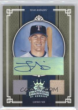 2005 Donruss Diamond Kings - [Base] - Silver Materials Signatures [Autographed] [Memorabilia] #232 - Laynce Nix /100