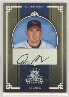 2005 Donruss Diamond Kings - [Base] - Silver Signatures [Autographed] #319 - Jay Gibbons /50 [EXtoNM]