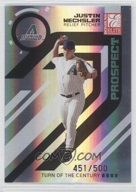 2005 Donruss Elite - [Base] - Turn of the Century #198 - Justin Wechsler /500