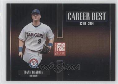 2005 Donruss Elite - Career Best - Black #CB-13 - Hank Blalock /150