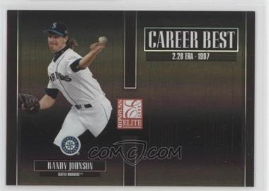 2005 Donruss Elite - Career Best - Black #CB-22 - Randy Johnson /150