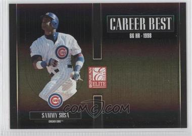 2005 Donruss Elite - Career Best - Black #CB-24 - Sammy Sosa /150