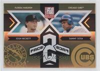 Josh Beckett, Sammy Sosa /150