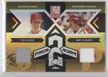 2005 Donruss Elite - Face 2 Face - Jerseys [Memorabilia] #FF-19 - Mike Schmidt, Tom Seaver /50
