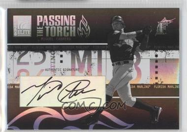 2005 Donruss Elite - Passing the Torch - Autographs #PT-22 - Miguel Cabrera /75