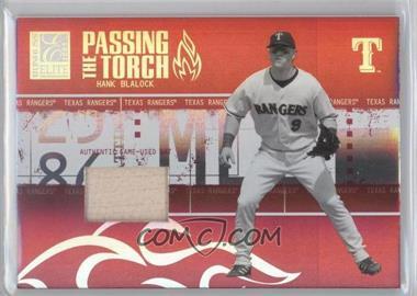 2005 Donruss Elite - Passing the Torch - Bats #PT-16 - Hank Blalock /250