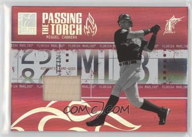 2005 Donruss Elite - Passing the Torch - Bats #PT-22 - Miguel Cabrera /250