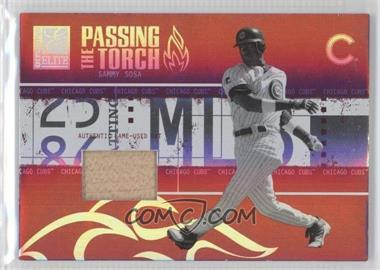 2005 Donruss Elite - Passing the Torch - Bats #PT-26 - Sammy Sosa /250