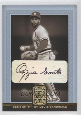 2005 Donruss Greats - [Base] - Gold Holofoil Signatures [Autographed] #62 - Ozzie Smith